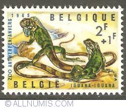 Image #1 of 2 + 1 Francs 1965 - Green Iguana