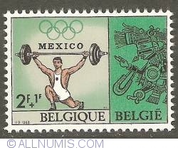 Image #1 of 2 + 1 Francs 1968 - Weight Lifting