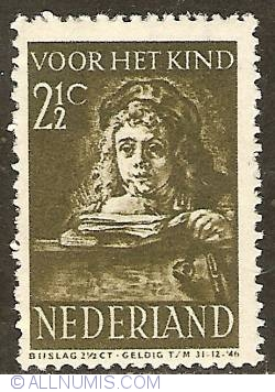 Image #1 of 2 1/2 + 2 1/2 Cent 1941 - Rembrandt's son Titus
