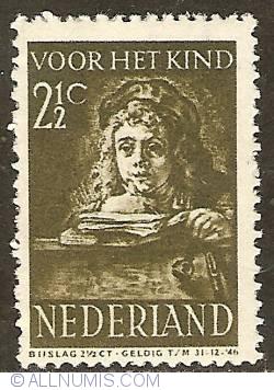 2 1/2 + 2 1/2 Cent 1941 - Rembrandt's son Titus