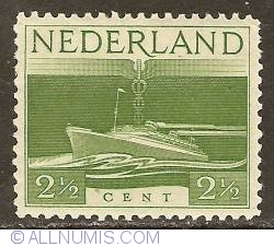 Image #1 of 2 1/2 Cent 1944 - Liberation - SS Nieuw Amsterdam