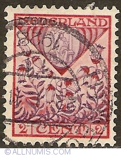 Image #1 of 2 + 2 Cent 1927 - Shield of Drenthe with hayflowers