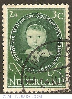 Image #1 of 2 + 3 cent 1955 - D. van Santvoort - Portrait of Willem van Loon