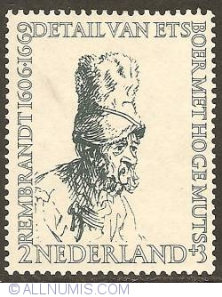 2 + 3 Cent 1956 - Rembrandt - Farmer with High Cap