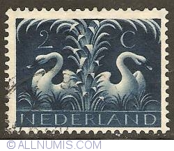 2 Cent  1943 - German Symbols - Swans