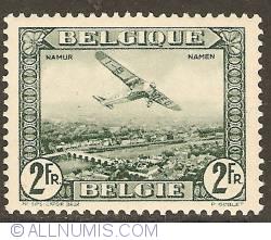 Image #1 of 2 Francs 1930 - Airmail - Plane above Namur