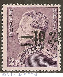 Image #1 of 2 Francs 1946 with overprint -10%