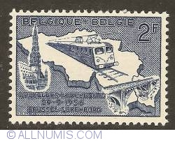 Image #1 of 2 Francs 1956 - Electrification of Railway Brussels-Luxembourg