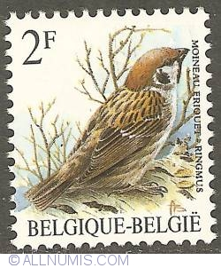 Image #1 of 2 Francs 1989 - Eurasian Tree Sparrow