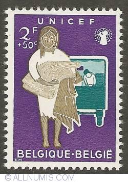 Image #1 of 2 Francs + 50 Centimes 1960 - UNICEF