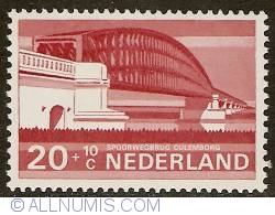 Image #1 of 20 + 10 Cent 1968 - Culemborg - Kuilenburgse Railway Bridge