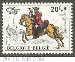 Image #1 of 20 + 9 Francs 1982 - Imperial Courier of 1800