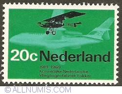 Image #1 of 20 Cent 1968 - Royal Dutch Airplane Factory Fokker