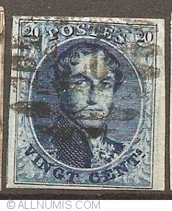 Image #1 of 20 Centimes 1858-Leopold I