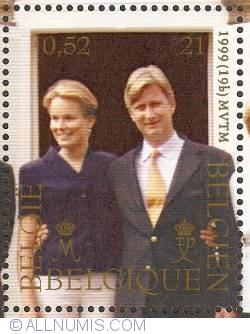 Image #1 of 21 Francs - 0.52 Euro 1999 - Princely Marriage
