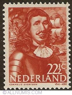 Image #1 of 22 1/2 Cent 1943 - Cornelis Evertsen