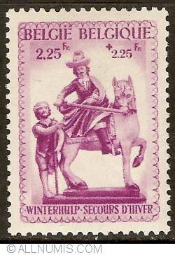 Image #1 of 2,25 + 2,25 Francs 1941 - Winter Help - St. Martin