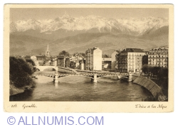 Image #1 of Grenoble - Isère River and Alps (1950)