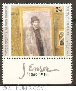 Imaginea #1 a 2,30 New Sheqalim 1999 - James Ensor - Ma chambre préférée (with tab)