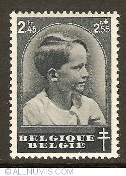 Image #1 of 2,45 +2,55 Francs 1937 - Prince Baudouin