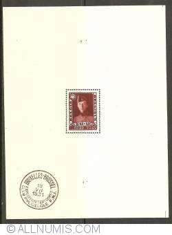 Image #1 of 2,45 Francs + 55 Centimes 1931 - Stamp Exhibition Brussels Souvenir Sheet