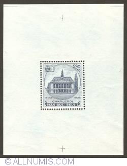 Image #1 of 2,45 Francs + 55 Centiumes 1936 - City Hall of Charleroi souvenir sheet
