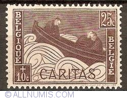 Image #1 of 25+10 Centimes 1927 - Caritas - Boat