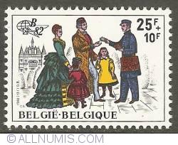 Image #1 of 25 + 10 Francs 1982 - Postman of 1886