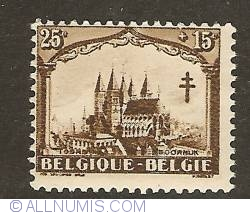 Image #1 of 25 + 15 Centimes 1928 - Cathedral Notre Dame of Tournai