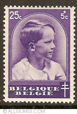 Imaginea #1 a 25 + 5 Centimes 1936 - Prince Baudouin