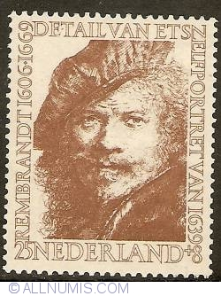 Image #1 of 25 + 8 Cent 1956 - Rembrandt - Selfportrait of 1639