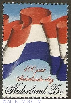 Image #1 of 25 Cent 1972 - 40th Anniversary of Dutch Flag