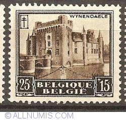 Image #1 of 25+15 Centimes 1930 - Castle of Wijnendale