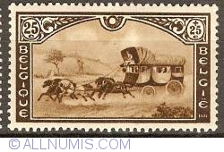Image #1 of 25 + 25 Centimes 1935 - Post Carriage