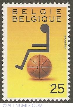 Image #1 of 25 Francs 1990 - Wheelchair-Basketball
