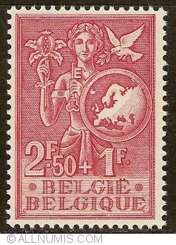 Image #1 of 2,50 + 1 Francs 1953 - European Office for Youth and Children