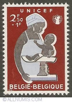 Image #1 of 2,50 + 1 Francs 1960 - UNICEF