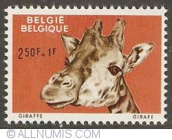 Imaginea #1 a 2,50 + 1 Francs 1961 - Giraffe