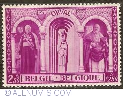 Image #1 of 2,50 + 2,50 Francs 1939 - Orval Abbey - Dom Herman Smets and Mgr. Heylen