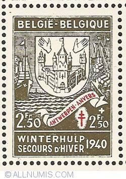Image #1 of 2,50 + 2,50 Francs 1941 - Antwerpen