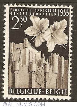 Image #1 of 2,50 Francs 1955 -Floralies of Ghent -Azalea