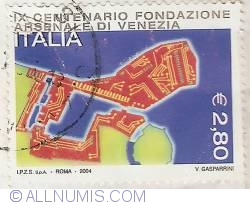 Image #1 of 2,80 Euro 2004 - Foundation of Venice Arsenal
