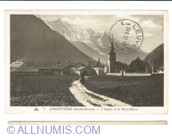 Image #1 of Argentière - Church and Mont-Blanc (1937)