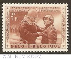 Image #1 of 3 + 1 Francs 1957 - General Patton decorating General MacAuliffe