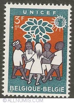 Image #1 of 3 + 1 Francs 1960 - UNICEF
