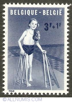 Image #1 of 3 + 1 Francs 1962 - The Handicaped Child - Polio
