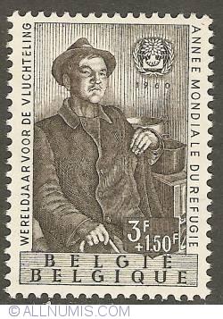 Image #1 of 3 + 1,50 Francs 1960 - World Refugee Year