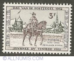 Image #1 of 3 Francs 1962 - Postman on a horse