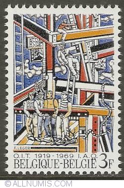 Image #1 of 3 Francs 1969 - International Labour Organisation