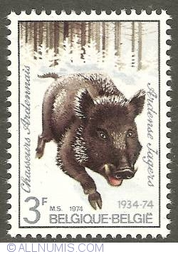 Image #1 of 3 Francs 1974 - Chasseurs Ardennais - Wild Boar